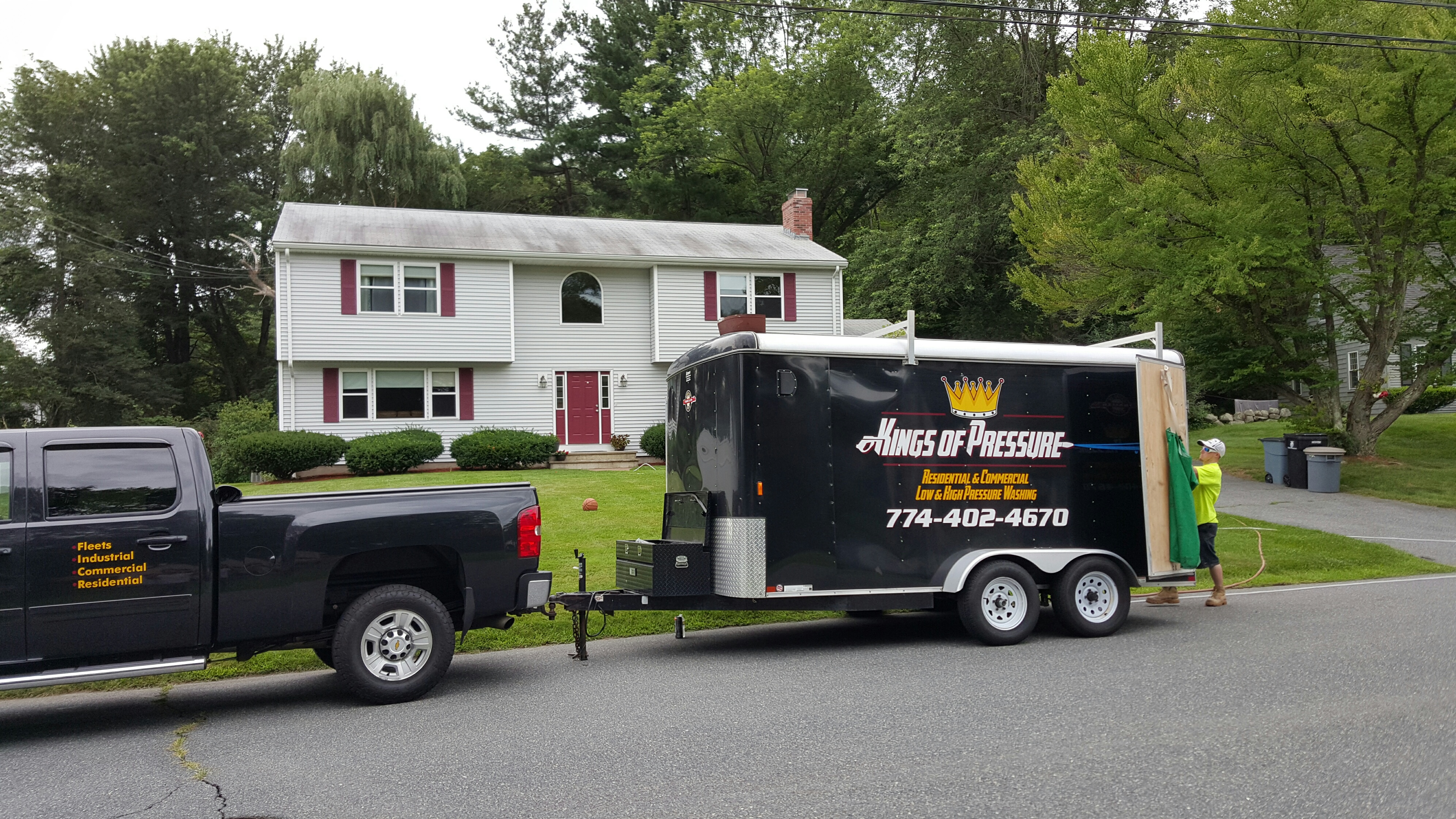 Residential Roof Cleaning Kings Of Pressure Worcester Ma